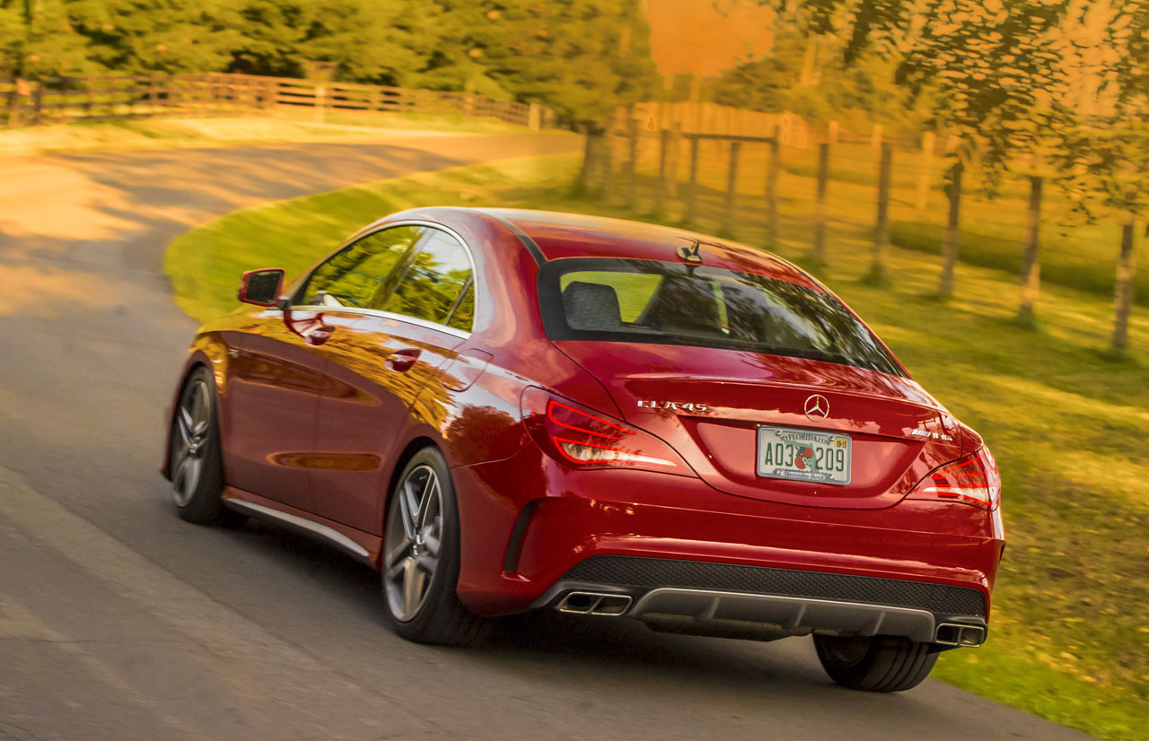 2014 mercedes benz cla 45 amg 4matic road test review. Black Bedroom Furniture Sets. Home Design Ideas