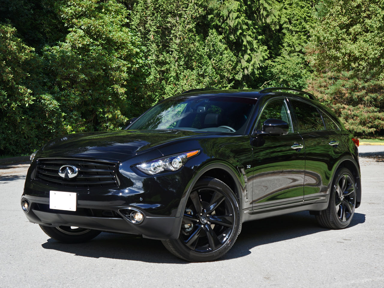 Blacked Out Suv >> 2015 Infiniti QX70 Sport Road Test Review | CarCostCanada