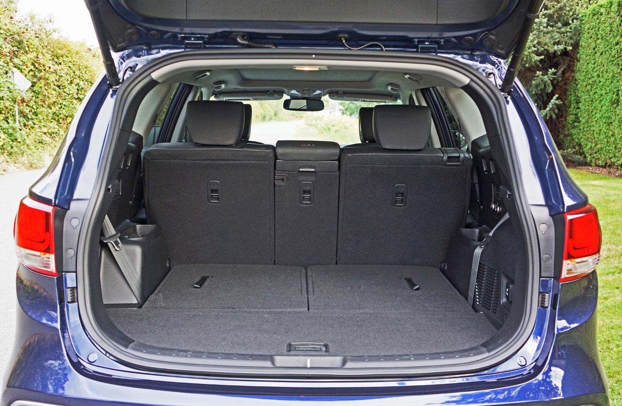 2017 hyundai santa fe cargo space best new cars for 2018. Black Bedroom Furniture Sets. Home Design Ideas